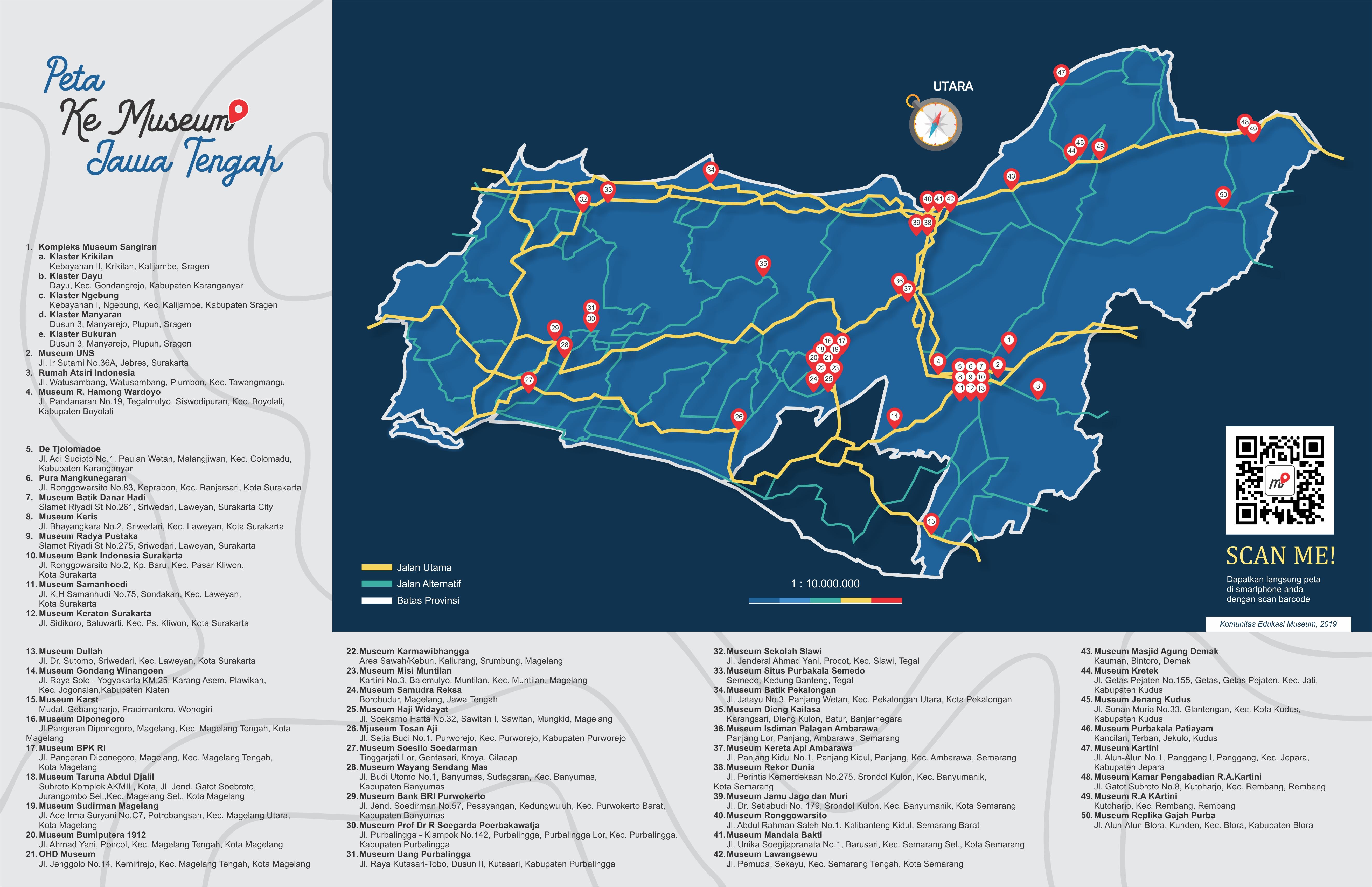 Peta Museum Jawa Tengah